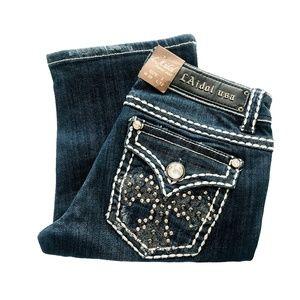 LA Idol Jeweled Back Flap Pocket Bermuda Shorts